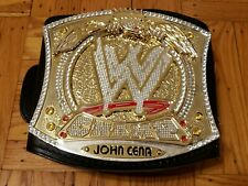 WWE SPINNER BELT RELEATHERED W/ JOHN CENA NAMEPLATE