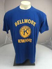 Vtg 80s 90s BELLMORE KIWANIS INTERNATIONAL CLUB Royal Blue SS tshirt 2XL USA