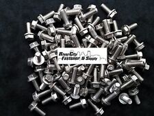 (5) M10-1.5 x 25 / M10x25 Hex Flange Bolts DIN 6921 10mm x 25mm Stainless Steel