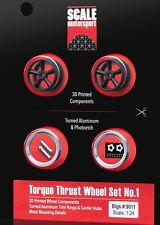 Scale Motorsport 1/24 3D Printed Torque Thrust Wheels Set #1 - Big (2 wheels)