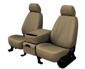 Toyota Sequoia 2001-2004 Beige Faux Leather Custom Fit Front Seat Covers