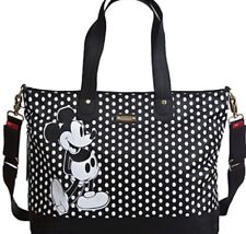 Disney Store Mickey Mouse Diaper Bag Storksak Black White Polka Dots NWTS