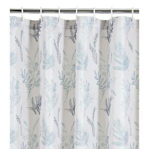 Shower Curtain With Hooks 180x180cm Floral Designer Outline Bathroom Polyester