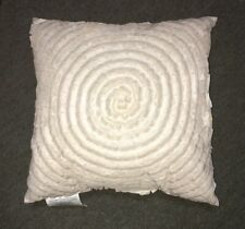 "NWT Delicate Spiral Ribbon Circle SQ Throw Pillow  18"" x 18"" Antique White"