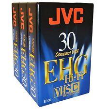 3 JVC EHG HIFI 30 Minute VHS-C VHS-C Camcorder compatta NASTRO VIDEO CASSETTA EC-30