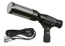 New PDMIC35 Electret Condenser Shotgun Microphone with 16 ft. XLR Cable