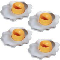 "4 Stück Kunststoff-Eierbecher Eibecher Egg Cup Design: ""Spiegelei"" - ca. 14 cm"
