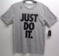 Nike TEE Size Large L BASKETBALL JUST DO IT Gray DRI-FIT T-Shirt New Mens Shirt