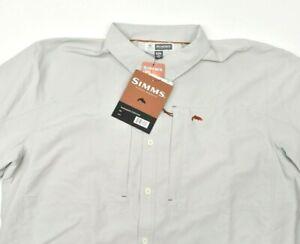 NEW Simms BugStopper Long Sleeve Shirt $120 SPF 50+ Size 2XL Ash Gray