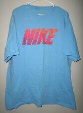 NIKE gradient fade 2XL sci-fi tee three-tone XXL pastels basketball T shirt