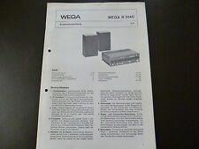 Original Service Manual Wega V 3840