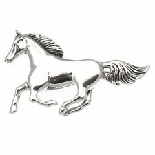 Sterling Silver Running Horse Design Brooch  by Touch Jewellery  43mm x 25mm 925