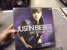 Justin Bieber , Backstage Pass Board Game  , New in Sealed Box!