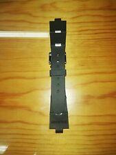 Cinturino IN GOMMA NERO 22MM compatibile per BVLGARI