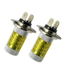 2Pcs H7 2323 16SMD High Power Yellow 80W LED Fog Driving Light Bulb pour