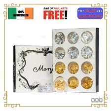 12x Gold Silver Nail Foil Paillette Nail Art Decoration Flake Sticker Tinfoil EU