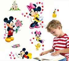 Micky and Minnie Wall Sticker Removable Kids Nursery Room Decal Home Decor