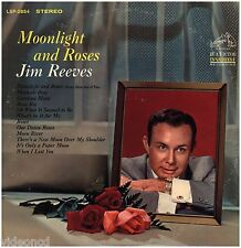 JIM REEVES Moonlight And Roses RCA LIVING STEREO 1ST PRESSING LP RECORD