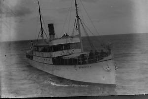 9x12-Glas-Negativ Rügen Schiff Mönchgut um 1915