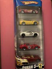 HotWheels 5ct Ferrari Cali 250 GTO 612 Scaglietti 355 Challenge 360 Modena 5 NEW