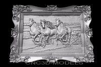 3D Model STL for CNC Router Engraver Carving Artcam Aspire Pano Horse Frame v481