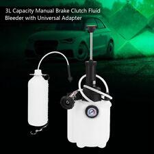 Manual Brake Clutch Fluid Bleeder Bleeding Tool 3L Capacity Universal Adapter