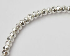 Karen Hill Tribe Silver 40 Faceted Beads 3.2x2 mm.