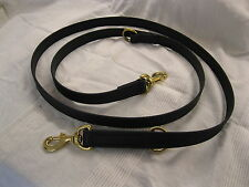 "1"" X 78"" SUPER HEAVY BIOTHANE [A BRIDLE LEATHER SUBSTITUTE] DOG TRAINING LEAD"