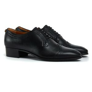Gucci Brogues Size UK 11 US 12 Mens Black Leather Shoes Brand New RRP £525