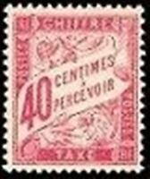 """FRANCE STAMP TIMBRE TAXE N° 35 """" TYPE DUVAL 40c ROSE """" NEUF xx TTB"""