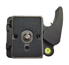 "Quick Release QR Adapter & Plate Lightweight Manfrotto 200PL 14 Compat 1/4"" 3/8"""