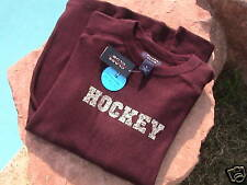 Hockey Waffle Knit T-Shirt Youth Size 20 in Burgandy - New