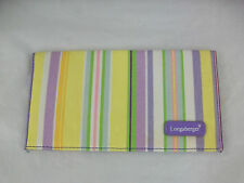 Longaberger Wallet Billfold Striped Easter