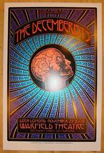 2008 The Decemberists - San Francisco Silkscreen Concert Poster by Dave Hunter