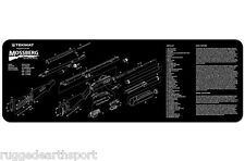 "TekMat Gun Cleaning Mat 12""x36"" Parts Schematic For MOSSBERG 500 590 Shotgun"