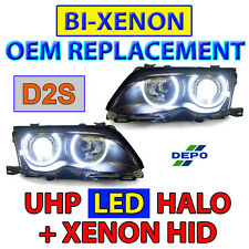 OEM Bi-Xenon D2S Replacement UHP LED Angel HID Headlight For 02-05 BMW E46 4D/5D