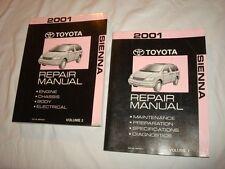 2001 TOYOTA SIENNA SHOP SERVICE REPAIR MANUAL SET [1] RM787U AL220