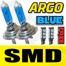 H7 55W XENON SUPER BRIGHT ICE BLUE BULBS X2 PAIR 501 CANBUS 13 LED SMD SIDELIGHT