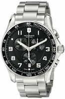 $695 VICTORINOX Swiss Army Mens BLACK 45mm Dial Chronograph Swiss Watch 241650