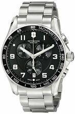 $695 VICTORINOX Swiss Army Mens BLACK 45mm Dial & Black Bezel Watch 241650