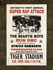 Beastie Boys / Run Dmc 1987 Tiger Stadium, Detroit 11�x17� Concert Poster