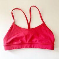 Lululemon Womens Sports Bra Size 4 Hot Coral Color