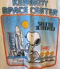 Vintage Peanuts SNOOPY Kennedy Space Center SHUTTLE COMMAND tee T Shirt size L
