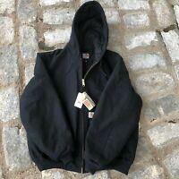 READY TO SHIP CBX#2-288 Carhartt K288 Signature Sleeve Logo Hooded Sweatshirt