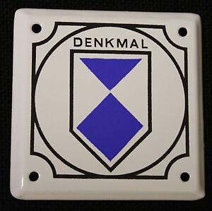 Denkmal 10,5 x 10,5 Schild Kulturgut Original DDR Emaille Denkmalschutz Email