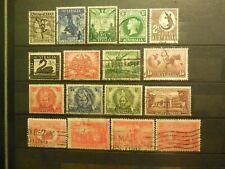 "(17) ""Australia"" Stamps (1920's - 1950's) =Used (Retail Value = $25.00)"