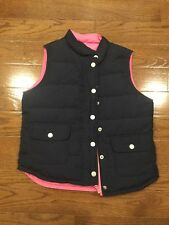Lilly Pulitzer Girls Navy Blue & Pink Reversible Puffer Vest - Size: 10