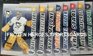 2003-04 Pacific Calder Reflections Set of 8**FLEURY*BERGERON**FREE COMBINE SHIP*