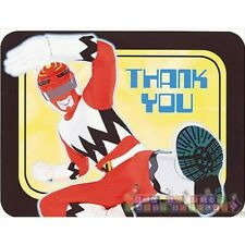 POWER RANGER Red Ranger THANK YOU NOTES (8) ~ Birthday Party Supplies Cards