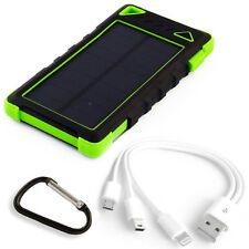 Solar Charger Power Bank 29600mWh Solar Panel 1W Li-Poly USB 2A&1A LED PowerNeed